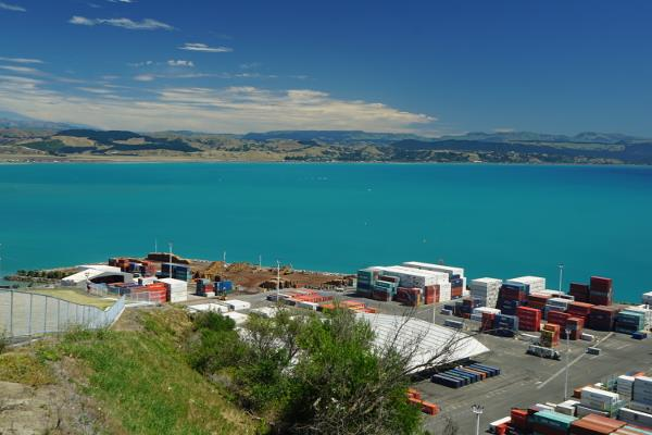 Picture of the important port of Napier